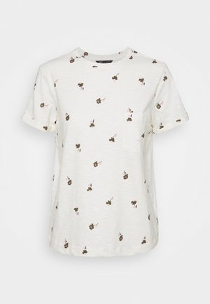 AUTH POCK TEE - Print T-shirt - off-white