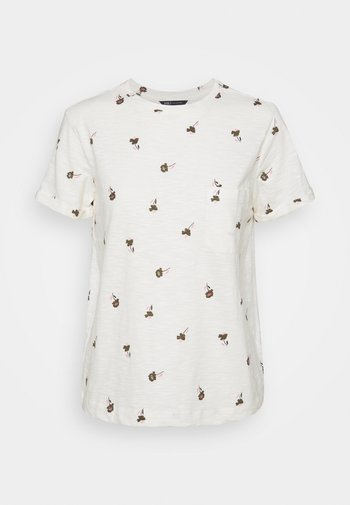 AUTH POCK TEE - T-shirts med print - off-white