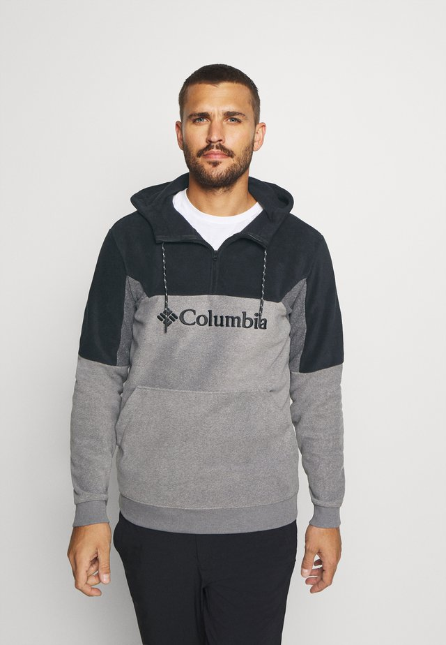 LODGEII HOODIE - Hoodie - city grey heather/black/shark heather