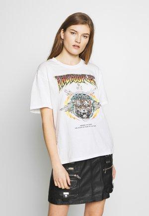 TEE - T-shirt med print - ecru