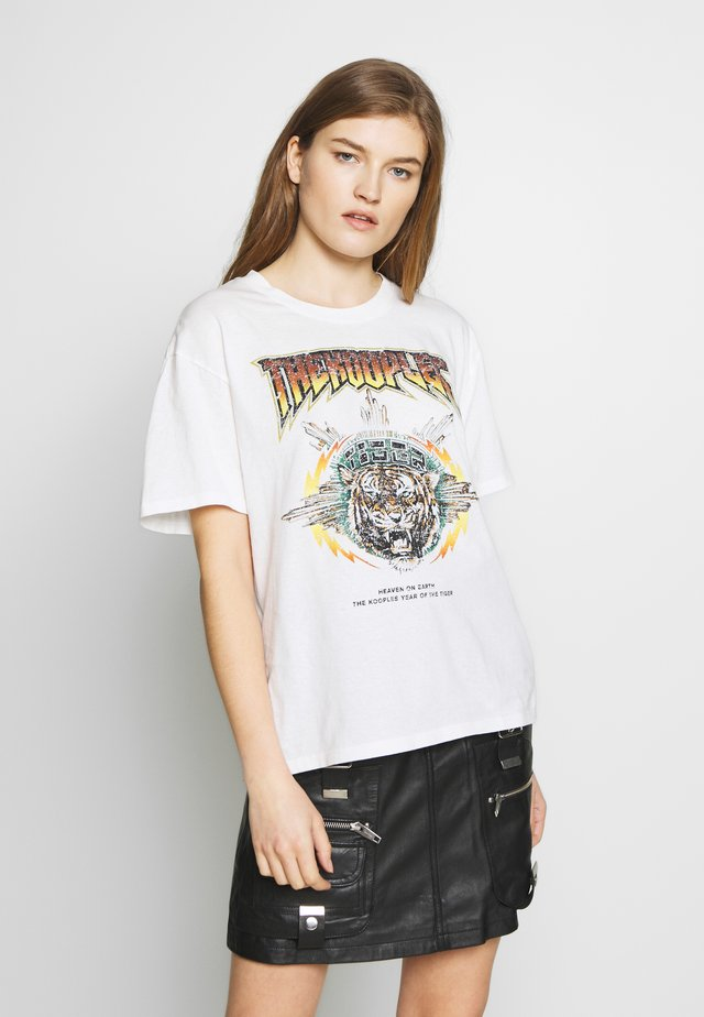 TEE - T-shirt imprimé - ecru