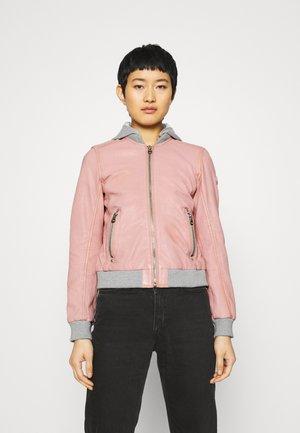 MOXI LULV - Leather jacket - rose