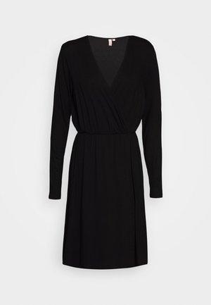 PCMARYJANE WRAP DRESS - Jersey dress - black