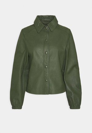 KAYLA - Button-down blouse - dark green