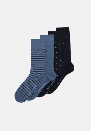 MEN SOCK TIN GIFTBOX STRIPE 4 PACK - Socks - dark blue/blue
