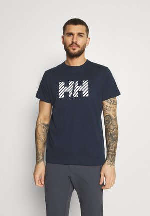 ACTIVE - Print T-shirt - navy