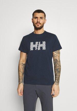ACTIVE - Print T-shirt - navy