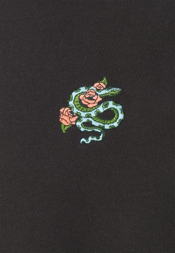 Burton Menswear London SNAKE AND ROSE EMBROIDERED - Bluza - stone/szary Odzież Męska WUWL