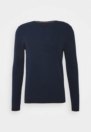SLHBEAK CREW NECK - Pullover - night sky/estate blue/egret