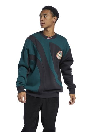 VINTAGE PACK CASUAL SWEATSHIRT - Sweatshirt - black/green