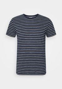 MULTI STRIPED - Print T-shirt - blue/off white