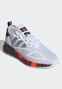 adidas Originals - ZX 2K BOOST UNISEX - Trainers - footwear white/silver metallic/core black - 2