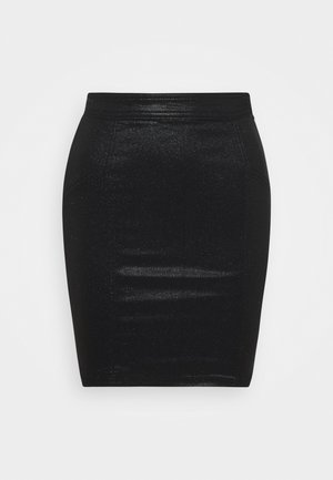 PCSKIN PARO GLITTER SKIRT  - Pencil skirt - black