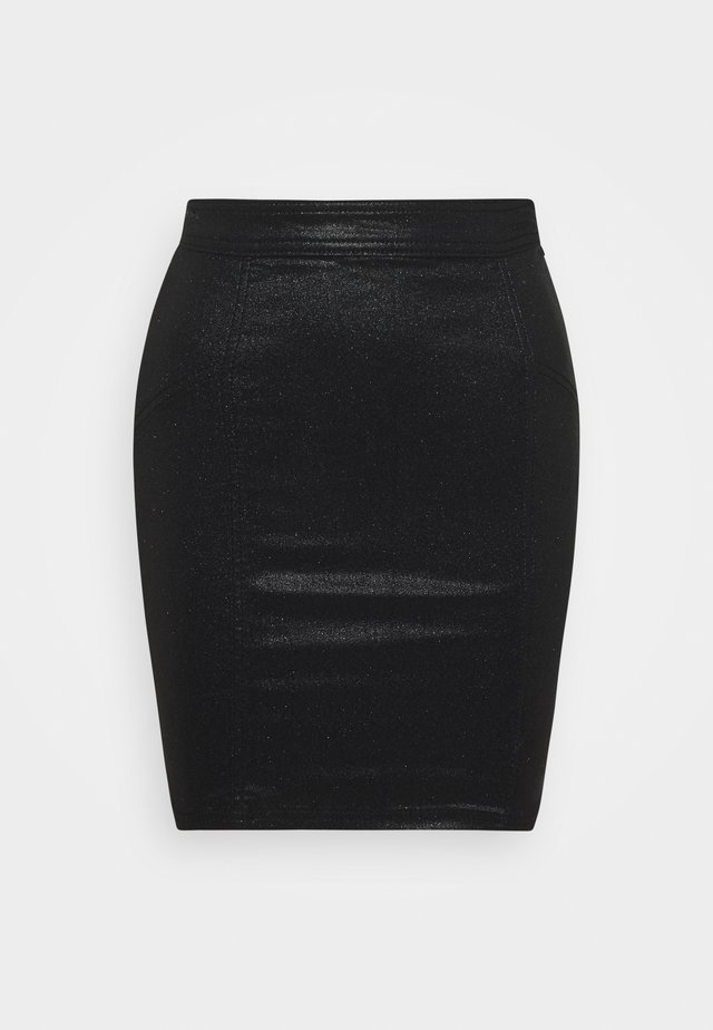 PCSKIN PARO GLITTER SKIRT  - Gonna a tubino - black