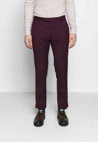 Limehaus - SUIT SLIM FIT - Kostym - bordeaux - 5