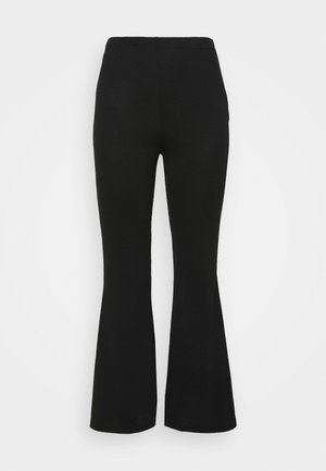 KICK FLARE - Trousers - black