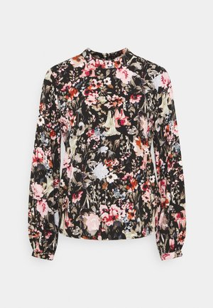 ONLDANIELLA HIGHNECK - Blouse - black