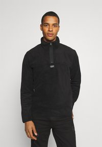 Jack & Jones - JCOMICK HALF ZIP - Fleece jumper - black - 0