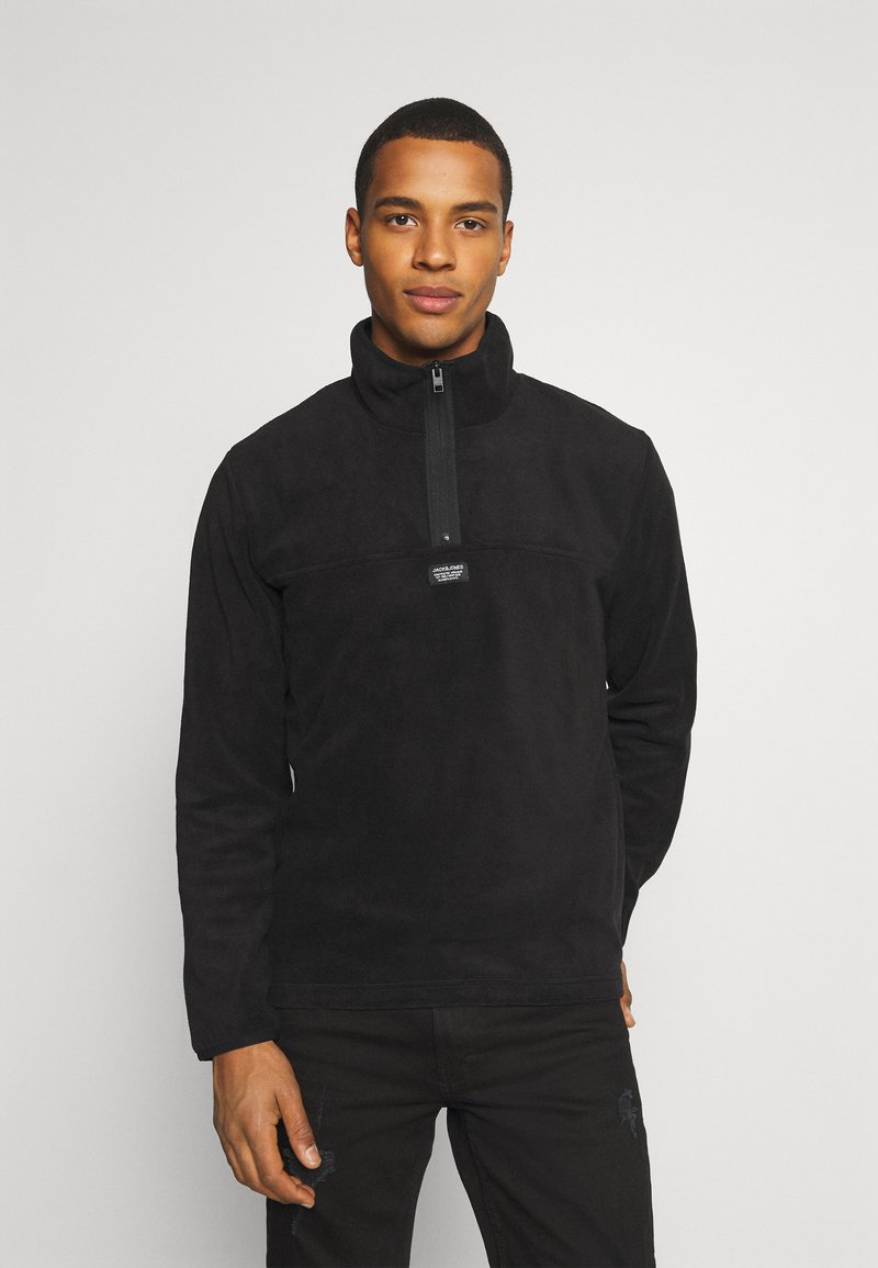 Jack & Jones - JCOMICK HALF ZIP - Fleece jumper - black