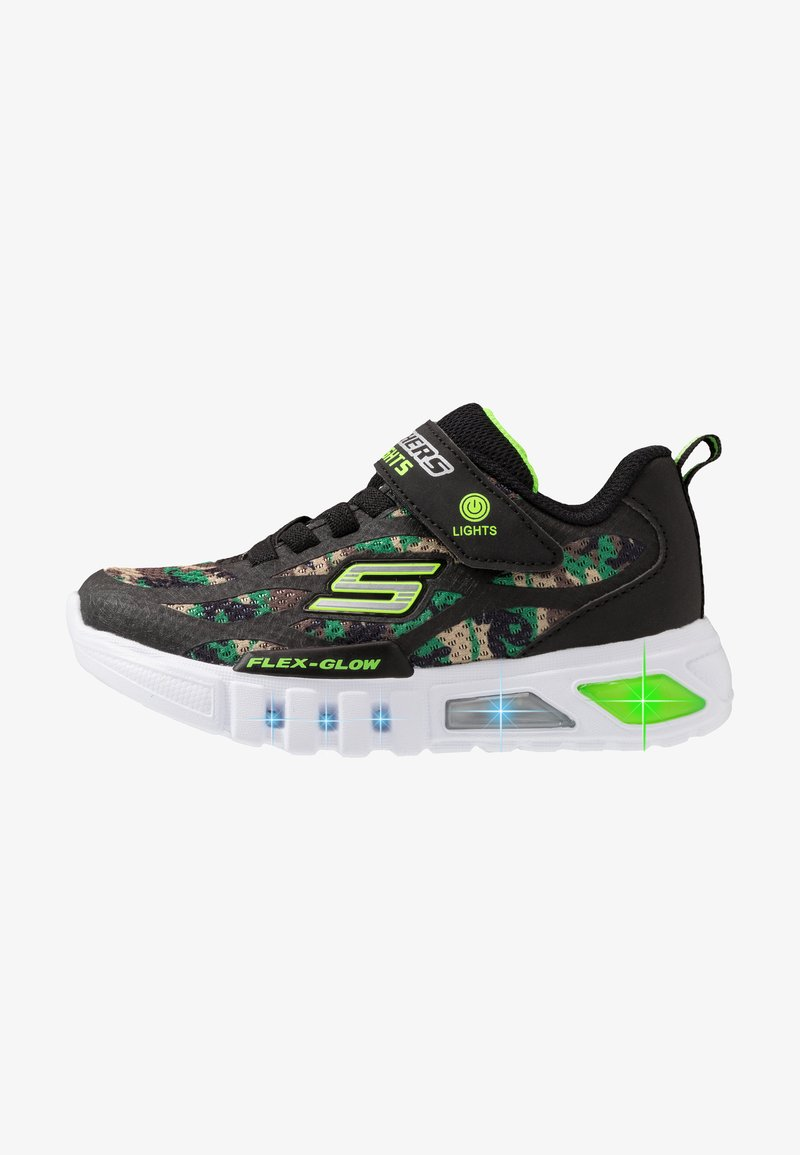 Skechers - FLEX-GLOW - Trainers - black/lime