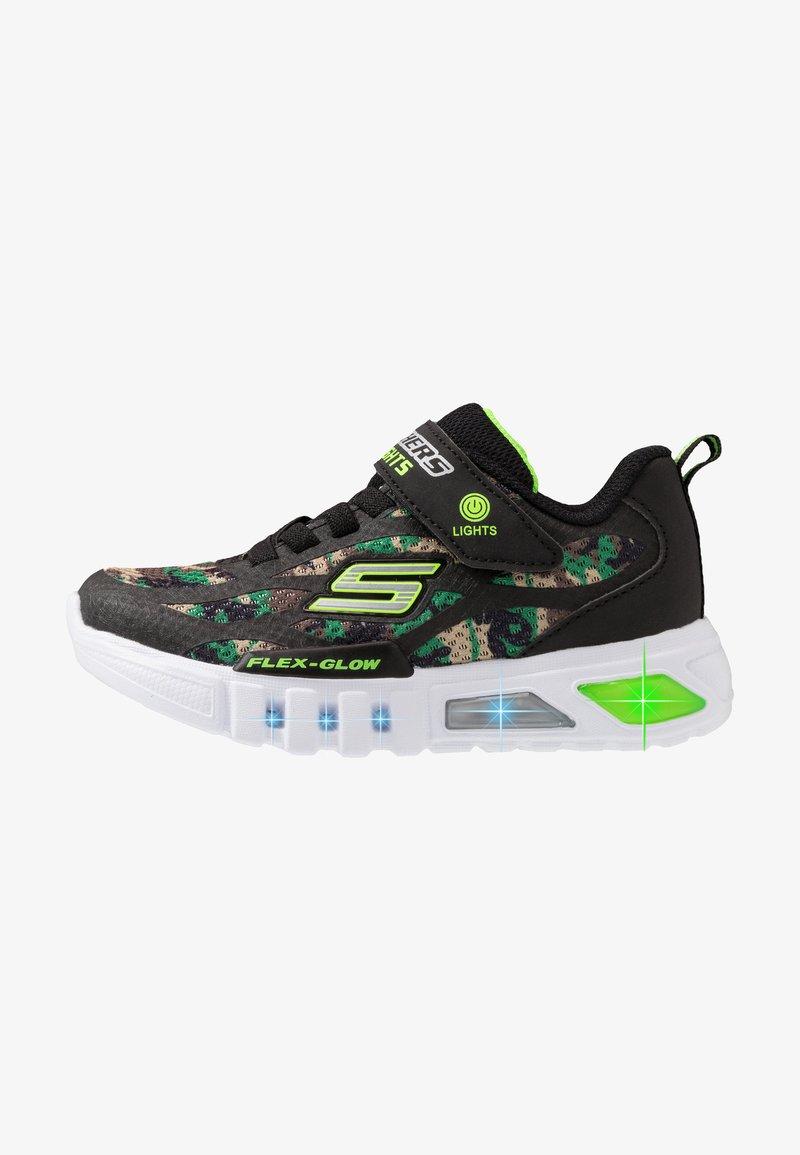 Skechers - FLEX-GLOW - Trainers - black/lime