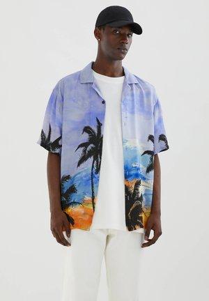 UND PALMENPRINT - Shirt - royal blue