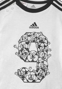 adidas Performance - SET - Sportovní kraťasy - white/black - 3