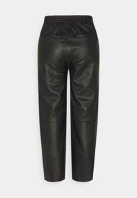 Object Petite - OBJVIOLA - Leather trousers - black - 1