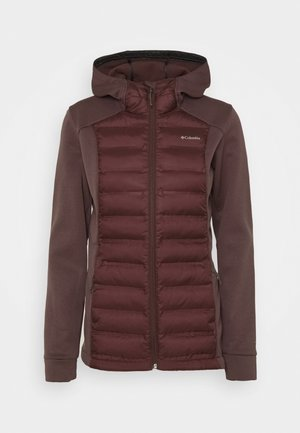 OUT-SHIELD™ INSULATED HOODIE - Down jacket - malbec