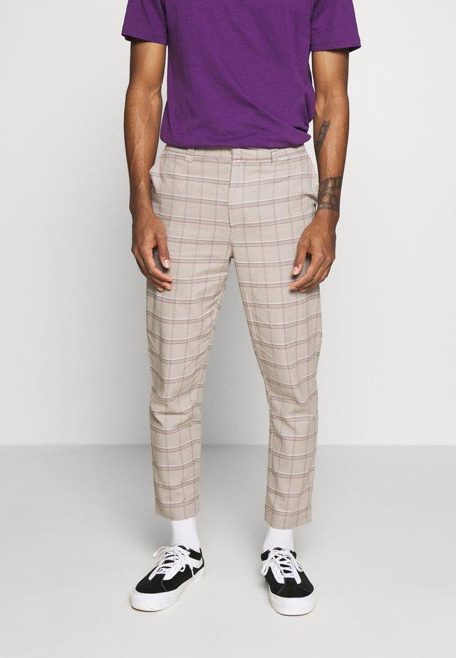 DOCK TROUSER - Spodnie materiałowe - stone