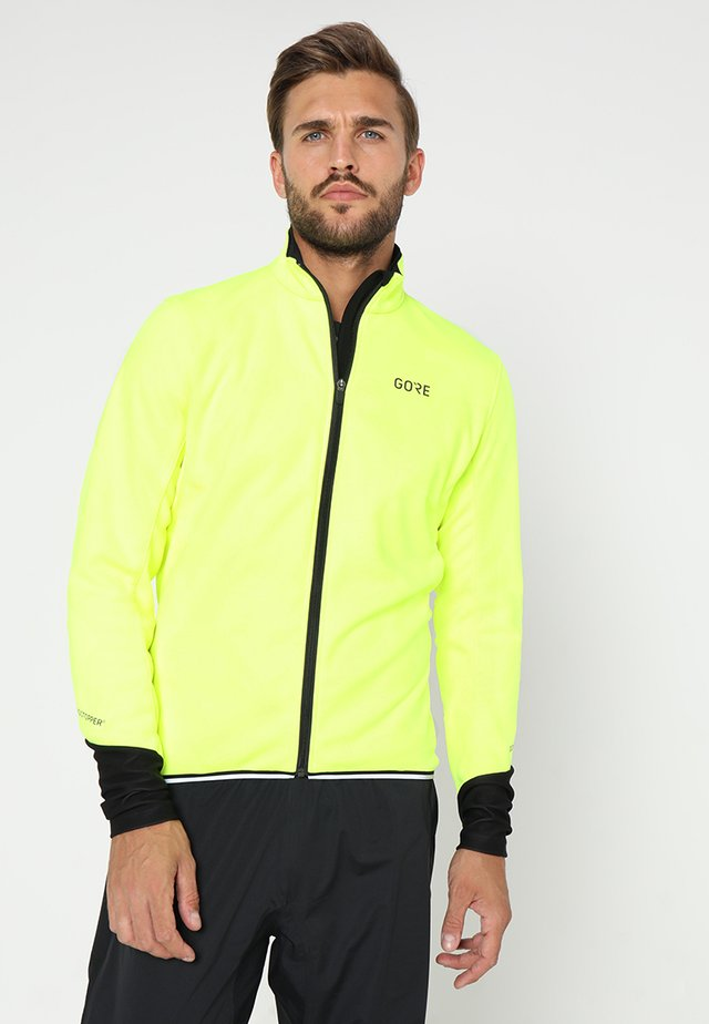THERMO  - Soft shell jacket - neon yellow/black