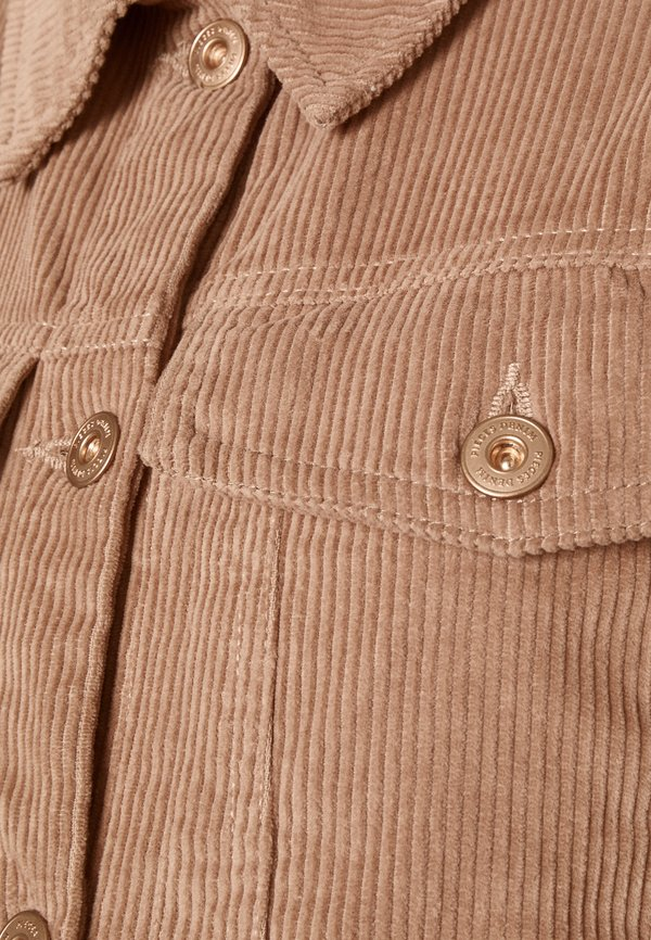 Pieces Maternity PCMPOLLY SHACKET - Koszula - warm taupe/piaskowy SVUK