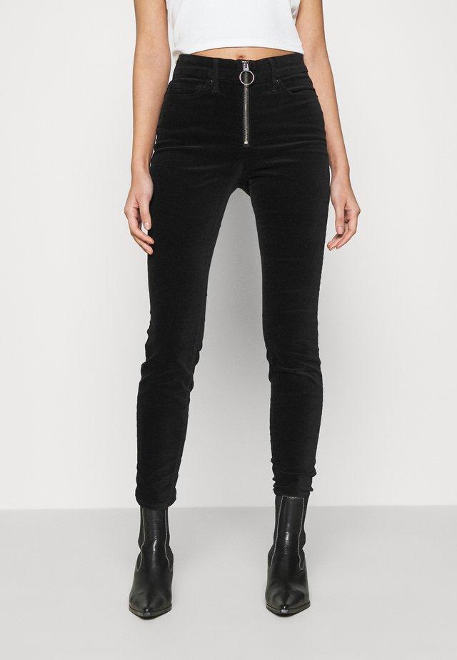 LEGS EXPOSED ZIP  - Kalhoty - black