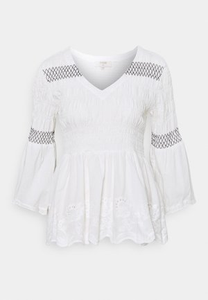 CRVANJA BLOUSE - Long sleeved top - snow white