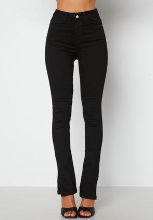 BIANCA SLIT HIGH WAIST SUPERSTRETCH - Jeans slim fit - black