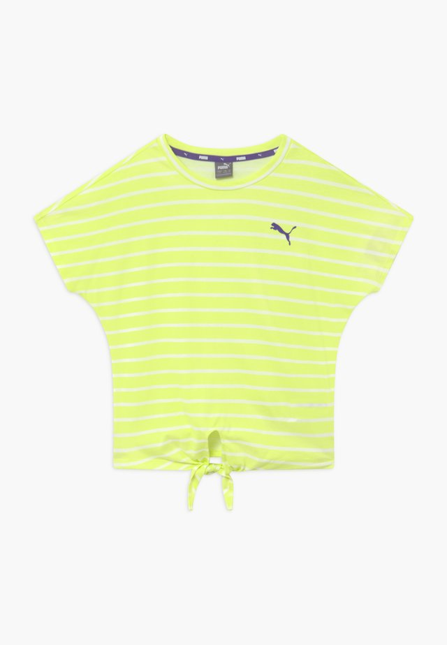 ALPHA STRIPED TEE - Print T-shirt - sunny lime