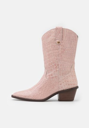 HOLLY MID HIGH - Cowboy/Biker boots - trippy pink
