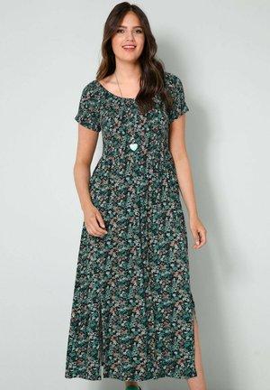 Maxi dress - schwarz,salbeigrün
