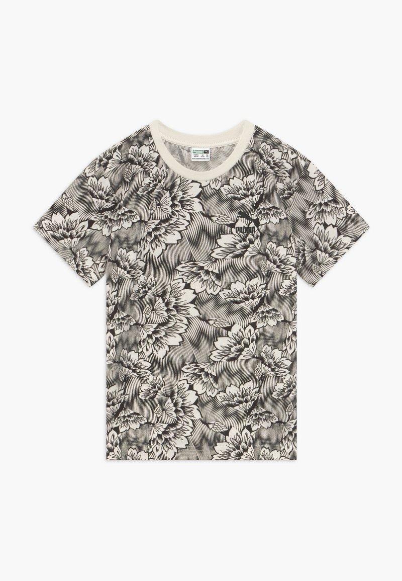 Puma - PUMA X ZALANDO TEE - T-shirt con stampa - silver birch