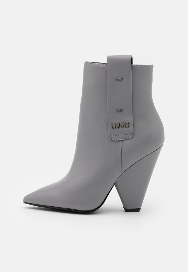 GUENDA  - High heeled ankle boots - grey