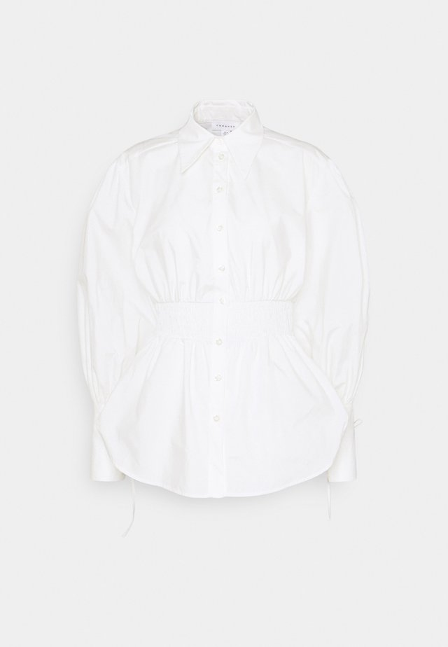 SHEERING WAIST POP BLOUSE - Bluzka - white