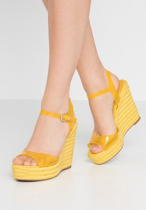 ZERRASEN - High heeled sandals - light yellow
