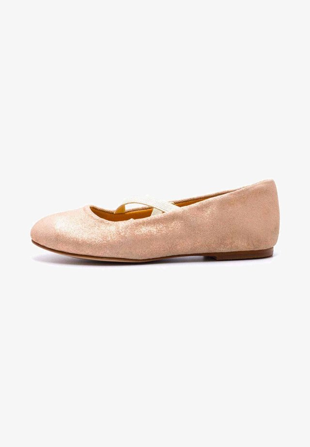 PAILLETTE - SOFIA - Ballerines - daim rose pale
