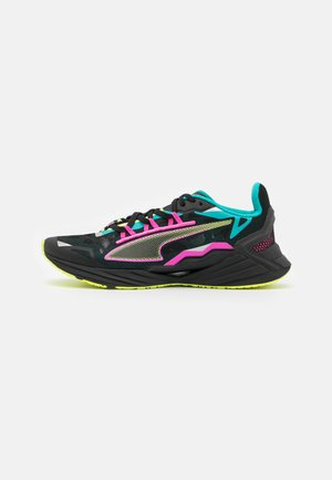 ULTRARIDE FM XTREME - Neutral running shoes - black/viridian green/luminous pink