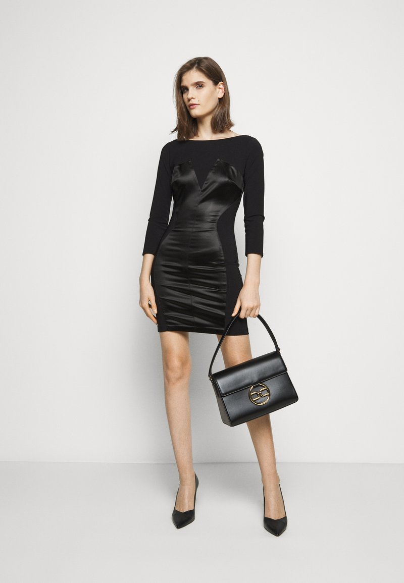 Elisabetta Franchi - RING LOGO SHOULDER BAG - Handbag - nero