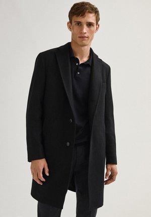 MIT FISCHGRÄTMUSTER - Classic coat - dark blue