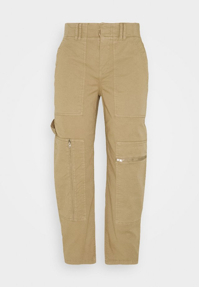 WORKERS - Trousers - braun