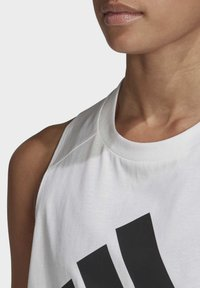 adidas Performance - BADGE OF SPORT COTTON TANK TOP - Top - white - 5