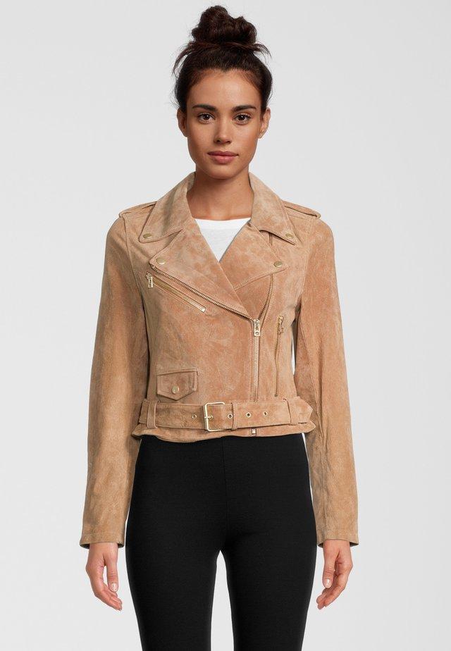 Leather jacket - light cognac