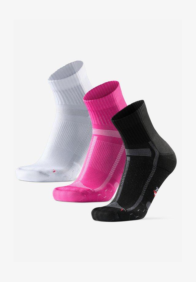 3 PACK - Sokken - multicolour black pink white